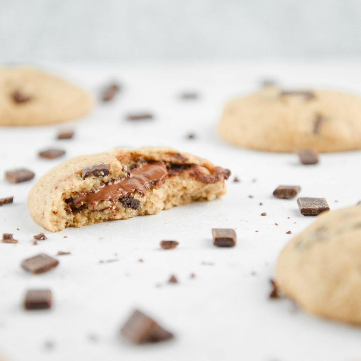 Cookies vegan cœur chocolat