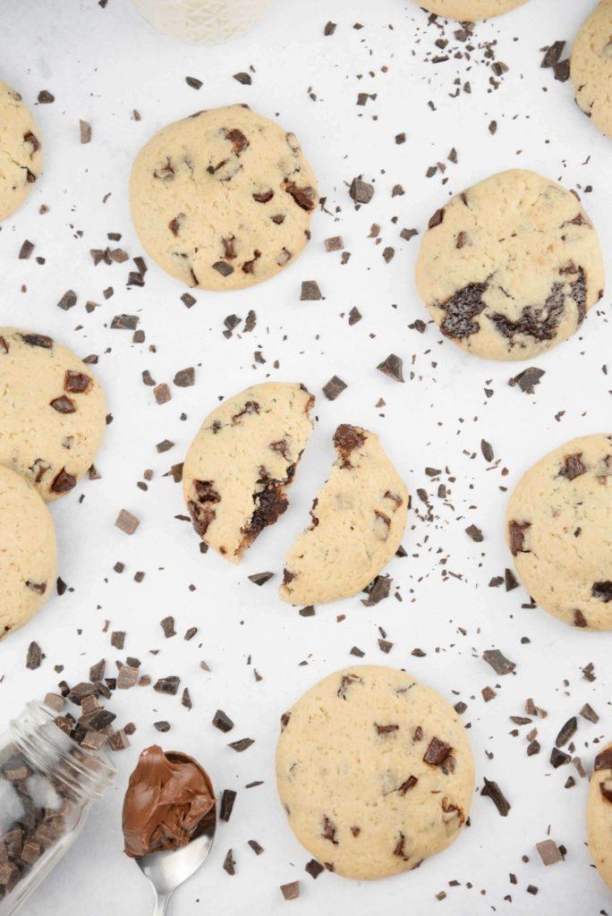 Cookie vegan coeur chocolat