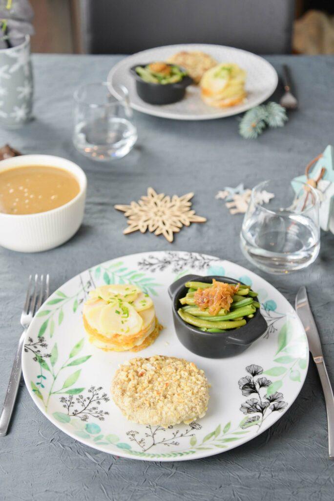 Recette vegan plat repas de Noel