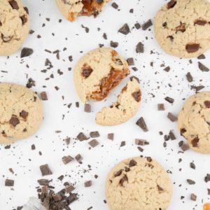 Cookie vegan coeur caramel